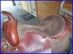Brown 17 Custom Gaited Pleasure Western Saddle Wide Tree