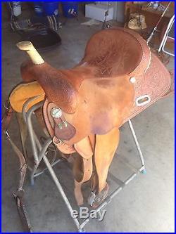Brown Circle Y Martha Josey Ultimate 16 inch Barrel Racing Saddle