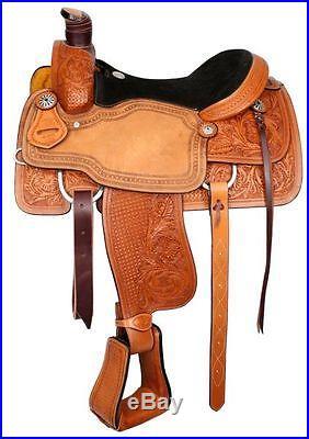 CIRCLE S WESTERN ROPING TRAIL WORK HORSE SADDLE 16 OR 17 FULL QH BARS ROPER