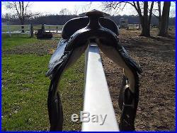CIRCLE Y ARABIAN SADDLE 15 SEAT DARK OIL EQUITATION SEAT ROUND SKIRT