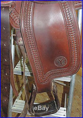 CIRCLE Y EQUITATION Show TRAIL 16 Tooled Leather Western Saddle Semi Quarter
