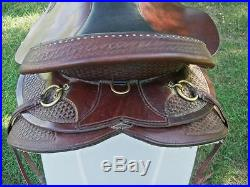 Circle Y Park & Trail Saddle 17 Seat Tooled Leather