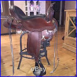 CIRCLE Y PARK & TRAIL Western Saddle 17 WIDE Walnut #3855-1701-05