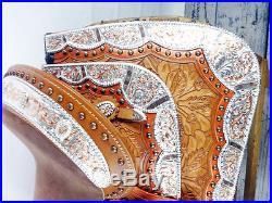 CUSTOM 16 MONTANA SILVER SHOW WESTERN LEATHER PARADE TRAIL HORSE SADDLE