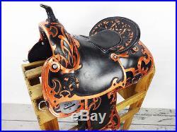 CUSTOM BLACK & GOLD 16 LEATHER WESTERN PLEASURE TRAIL SHOW RANCH HORSE SADDLE