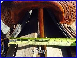 Cactus barrel saddle 13.5 in Marlene McRae