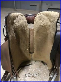 Calvin Allen Cutting Saddle WithTerry Riddle Tree FQHB 18 inch Seat Used