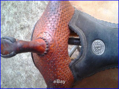 Charmayne James Double J Record Breaker Barrel Saddle 15 Inch