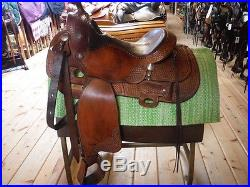 Chown Reiner Supreme Showman Western Saddle 15 seat with cinch TRIAL AVAILABLE
