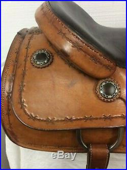 Chris Herschberger Custom Cutting Saddle Made In Rockville IND. 17