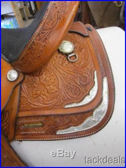 Circle Y 13 Youth Silver Western Show Saddle Lightly Used