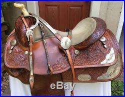 Circle Y 16-16 1/2 Classic Western Saddle ShowithPleasure Set w Jewelers Bronze