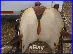 Circle Y 16. Mahogany equitation show saddle