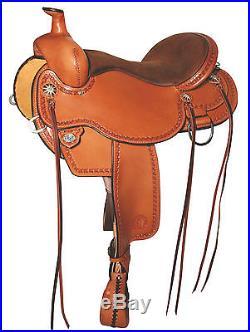 Circle Y Birdseye Flex2 Trail Saddle-Apache-Walnut-15 W