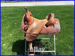 Circle Y Bob Marshall Treeless 15 Barrel Saddle