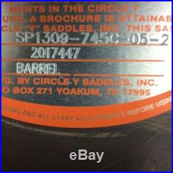 Circle Y Custom Tammy Fischer 1309 14.5 Daisy Treeless Barrel Saddle Full Bar