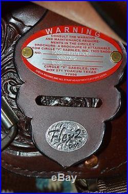 Circle Y Cypress Flex 2 Western Trail Saddle 17 inch