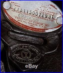 Circle Y Equitation Arabian Saddle, 15, dark oil in great used shape