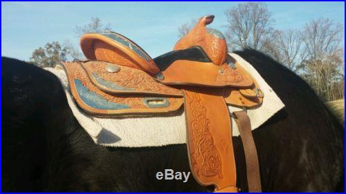 Circle Y Equitation Show Saddle 15 Silver