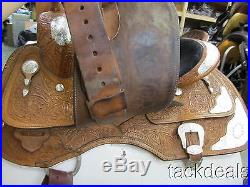 Circle Y Fancy Show Saddle Lightly Used 16 Gold & Silver