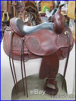 Circle Y Flex 2 Basket Flower Trail Saddle Lightly Used MINT 15