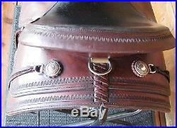 Circle Y Flex Lite Park Trail 16'' Seat Wide Tree Walnut Tooled Saddle Used