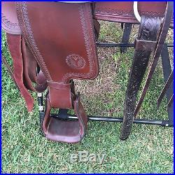 Circle Y Park and Trail Saddle Topeka Flex Lite Reg 15