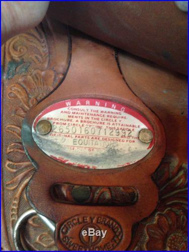 Circle Y Richard Shrake Resistance-Free Equitation Show Saddle 16.5