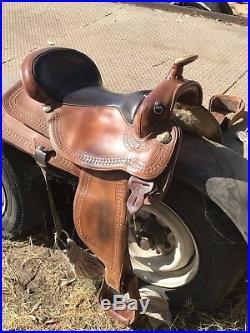Circle Y Western Pleasure Brown 17 Western Equestrian Saddle FQHB