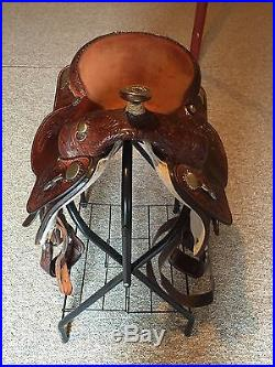 Circle Y Western Pleasure Equitation Show Western Equestrian Saddle. See Details