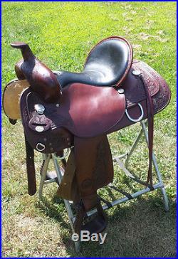 Circle Y Western Pleasure Walnut Western 16 inch Saddle