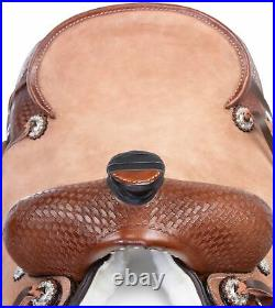 Classic Cowboy 16 in Western Roping Ranch Team Roper Horse Saddle Tack Set