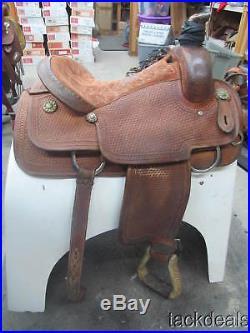 Corriente Roping Saddle 16 Roper Basket Tooled Used Solid