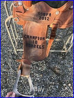 Courts 13 In Used Trophy Barrel Saddle