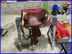 Cow Country By Circle Y Horse Leather Saddle Size 15.5