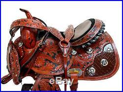 Cowboy Western Saddle 15 16 Pleasure Horse Racing Barrel Trail Leather Package