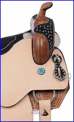 Cowgirl Pistol Barrel Racing Premium Leather Western Horse Saddle Tack 16