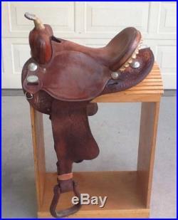 Crates Barrel Saddle 15 NO RESERVE