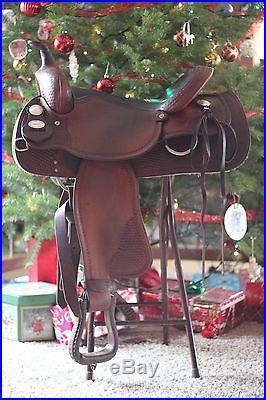 Crates Saddle 15 16 Pleasure, trail, team penning