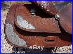 Crates Show Saddle Vintage Sterling Silver 15