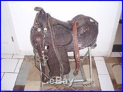 Custom Hand Tooled Arabian Western Show Saddle 15'