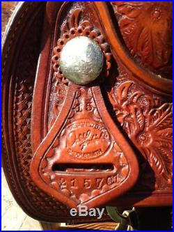 Custom Made, Excellent 15 Roping Western Saddle By Dale Fredrick High Quality