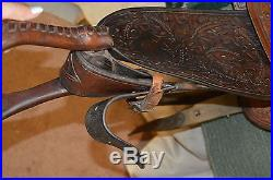 Custom Made by Billy Cook Greenville Western Saddle 15 inch