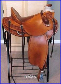 Custom Wade Ranch Roping Saddle