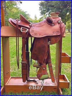 Custom Wade Saddle Western 16 Work, Show, Pleasure, Comfort