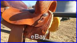 Cutting Horse Saddle Custom Made Show with Silver