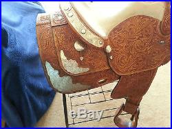 Dale Chavez show saddle 16 with beautiful sterling silver