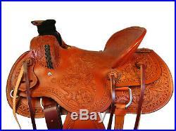 Deep Seat Wade Saddle Roping Ranch Western Horse Tack Floral Tooled 15 16 17