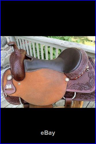 EUC Reinsman Saddle 16 Inch Seat FQHB MUST SEE! Great Christmas Gift