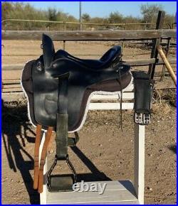 Endurance Saddle Orthoflex Patriot Original Len Brown with Booties & Girth NICE